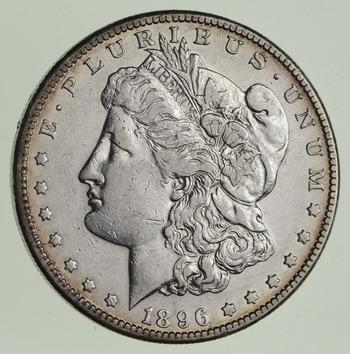 1896-S Morgan Silver Dollar - Sharp