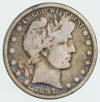 1897-O Barber Half Dollar- Circulated - Rare