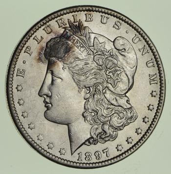 1897-O Morgan Silver Dollar - Near Uncirculated