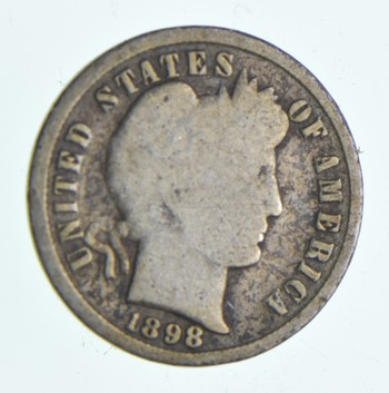1898 Barber Liberty 90% Silver United States Dime