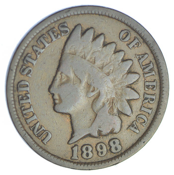 1898 Indian Head Cent - Over 115 Years Old