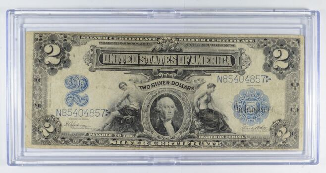 1899 $2 United States Silver Certificate - Large Note