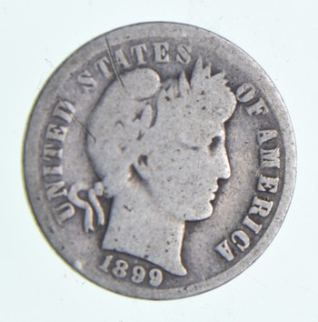 1899 Barber Liberty 90% Silver United States Dime