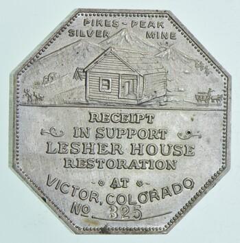 1900 1 Oz. Silver Leshers Referendum Souvenir Medal
