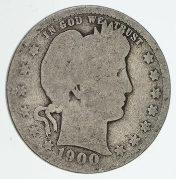 1900 Liberty Barber 90% Silver US Quarter