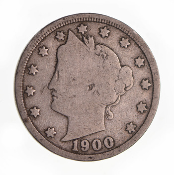 1900 Liberty Head V Nickel - Circulated Condition - Over 110 Years Old!