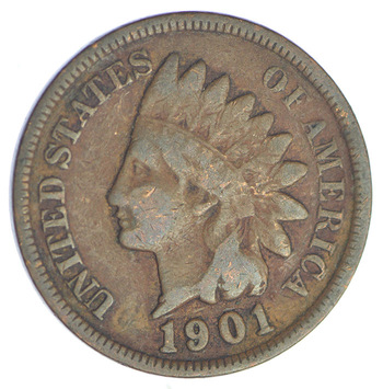 1901 Indian Head Cent - Over 110 Years Old