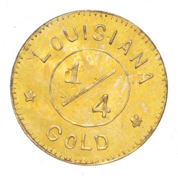 "1904 MO Louisiana Purchase Exposition Gold Coin - 14 Stars - H-61-320 - ""1/4"""