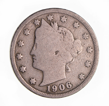 1906 Liberty Head V Nickel - Circulated Condition - Over 100 Years Old!