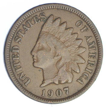 1907 Indian Head Cent - Over 100 Years Old
