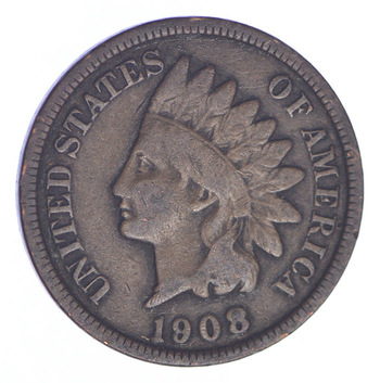 1908 Indian Head Cent - Almost 100 Years Old