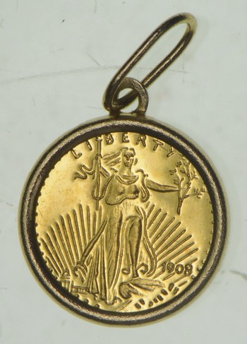1908 Saint Gaudens Double Eagle - Miniature Coin 0.4 Grams GOLD!
