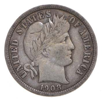 1908-D Barber Dime - Greenberg Coin Collection