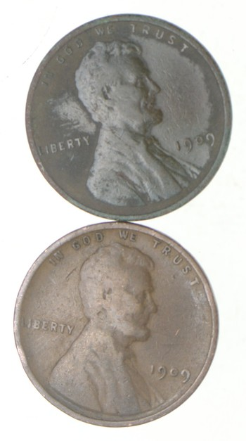 1909 & 1909 VDB Lincoln Wheat Cent - 2 Coin Set - Variety Collection!