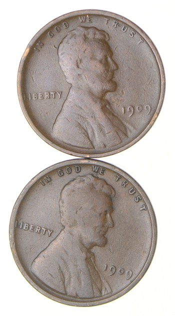 1909 & 1909-V.DB. Lincoln Wheat Cent - 2 Coin Set - Variety Collection!