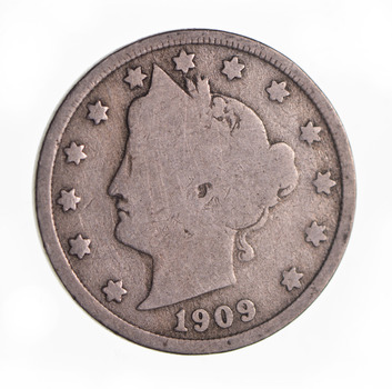 1909 Liberty Head V Nickel - Circulated Condition - Over 100 Years Old!