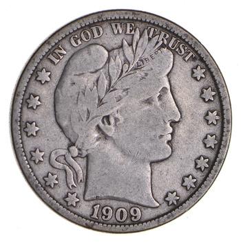 1909-O Barber Silver Half Dollar - Circulated