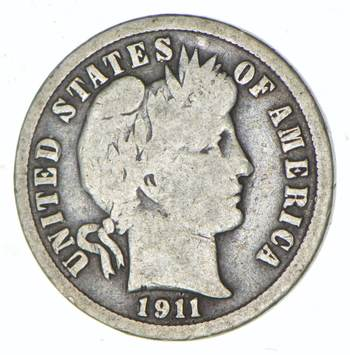 1911 Barber Liberty 90% Silver United States Dime
