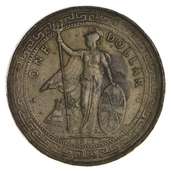 1911 Great Britain British Trade Dollar - Circulated