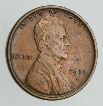 1911-D Lincoln Wheat Cent - Sharp