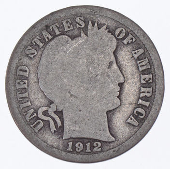 1912 Barber Liberty 90% Silver United States Dime
