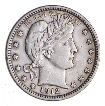 1912 Barber Quarter - Sharp