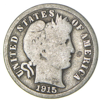 1915 Barber Liberty 90% Silver United States Dime