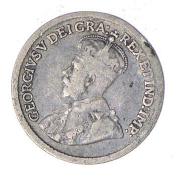 1916 Canada 5 Cents - Silver World Coin