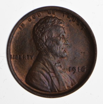 1916 Lincoln Wheat Cent - Toned - Uncirculated