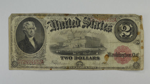 1917 $2.00 Legal Tender Issue Large Size Note - Fr. 60