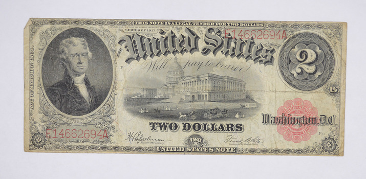 1917 $2.00 Legal Tender Large Size Note