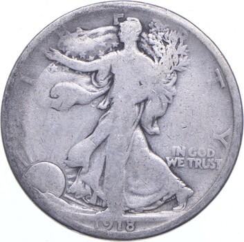 1918-D Walking Liberty 90% Silver US Half Dollar