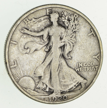 1920-S Walking Liberty Silver Half Dollar - Circulated