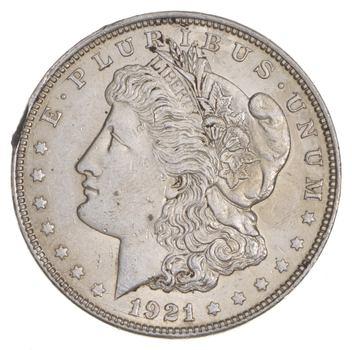 1921 Morgan Silver Dollar - Last Year Issue 90% $1.00 Bullion