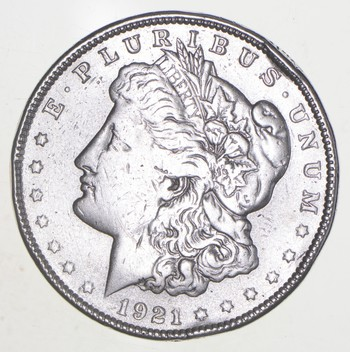 1921 Morgan Silver Dollar - Last Year Issue 90% $1.00 Bullion