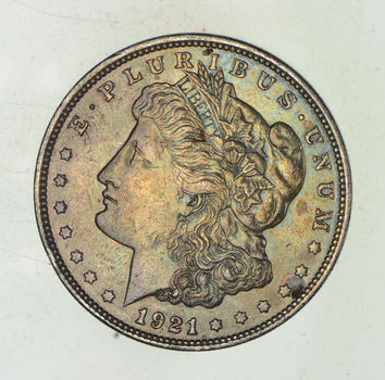 1921-D Morgan Silver Dollar - Last Year Issue 90% $1.00 Bullion