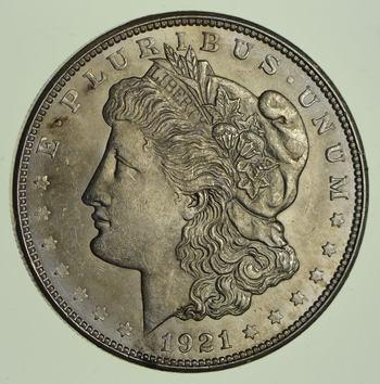 1921-D Morgan Silver Dollar - Not Circulated