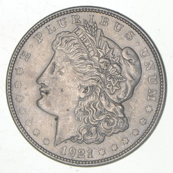 1921-D Only Denver Minted Morgan Silver Dollar