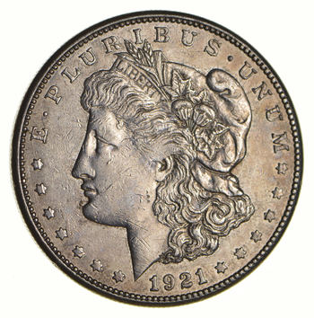 1921-S Morgan Silver Dollar - Last Year Issue