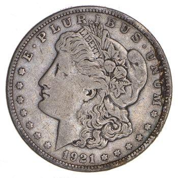 1921-S Morgan Silver Dollar - Last Year Issue 90% $1.00 Bullion