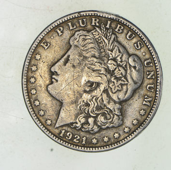 1921-S Morgan Silver Dollar - Last Year Issue 90% $1.00 Bullion