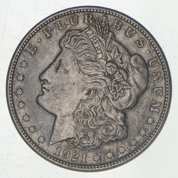 1921-S Morgan Silver Dollar - San Francisco Minted