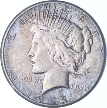 1922 Peace Dollar Charles Coin Collection