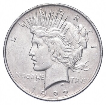 1922 Peace Silver Dollar - US Coin
