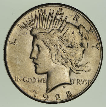 1928 Peace Silver Dollar - Choice