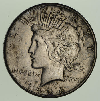 1928 Peace Silver Dollar - KEY DATE
