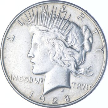 1928-S Peace Dollar Charles Coin Collection