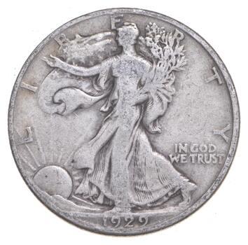 1929-D Walking Liberty 90% Silver US Half Dollar