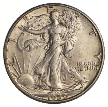 1929-D Walking Liberty Half Dollar - Choice