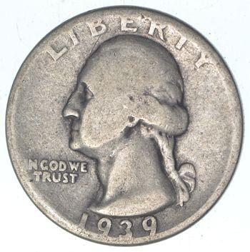 1930's - Depression - LOW MINTAGE - 1939-D Washington Quarter - 90% Silver